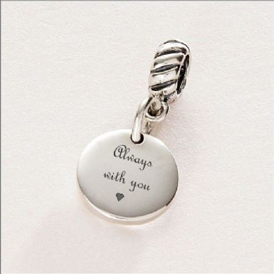 Always with You Memorial Charm, Sterling Silver | Someone Remembered